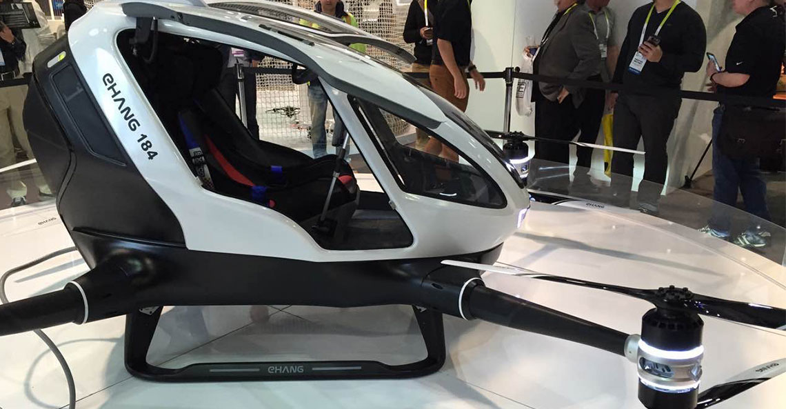 EHang184 – World's First Human-size Autonomous Aerial Vehicle