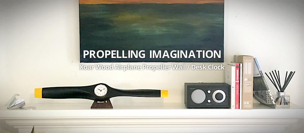 XOAR Propeller Wall Desk Clock