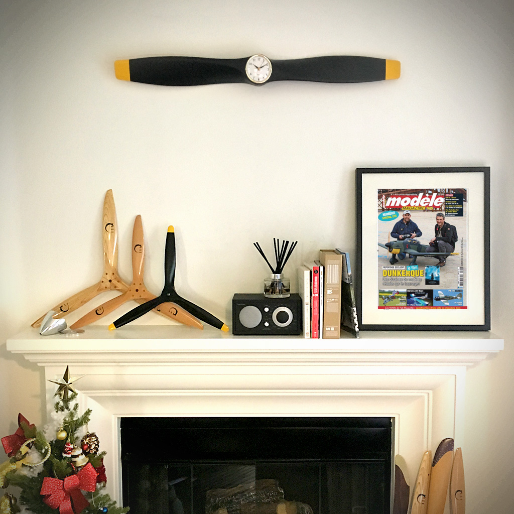 Xoar Propeller Clock Matt Black