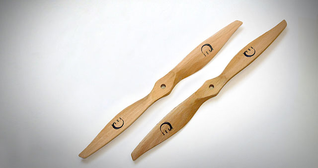 PJP-N - Precision Pair Beechwood Propeller For Electric Multicopter or Fixed Wing Application