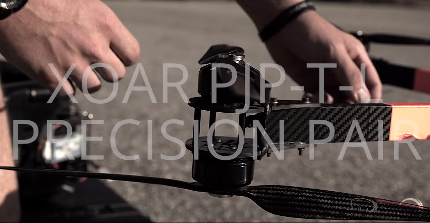Xoar PJP-T-L Carbon Fiber Multirotor Propeller Video