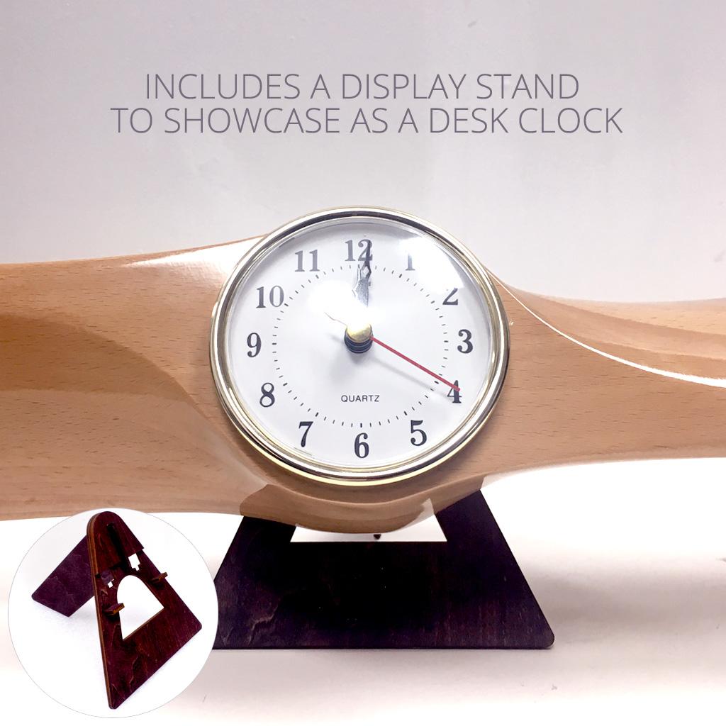 Xoar Propeller Clock Beechwood
