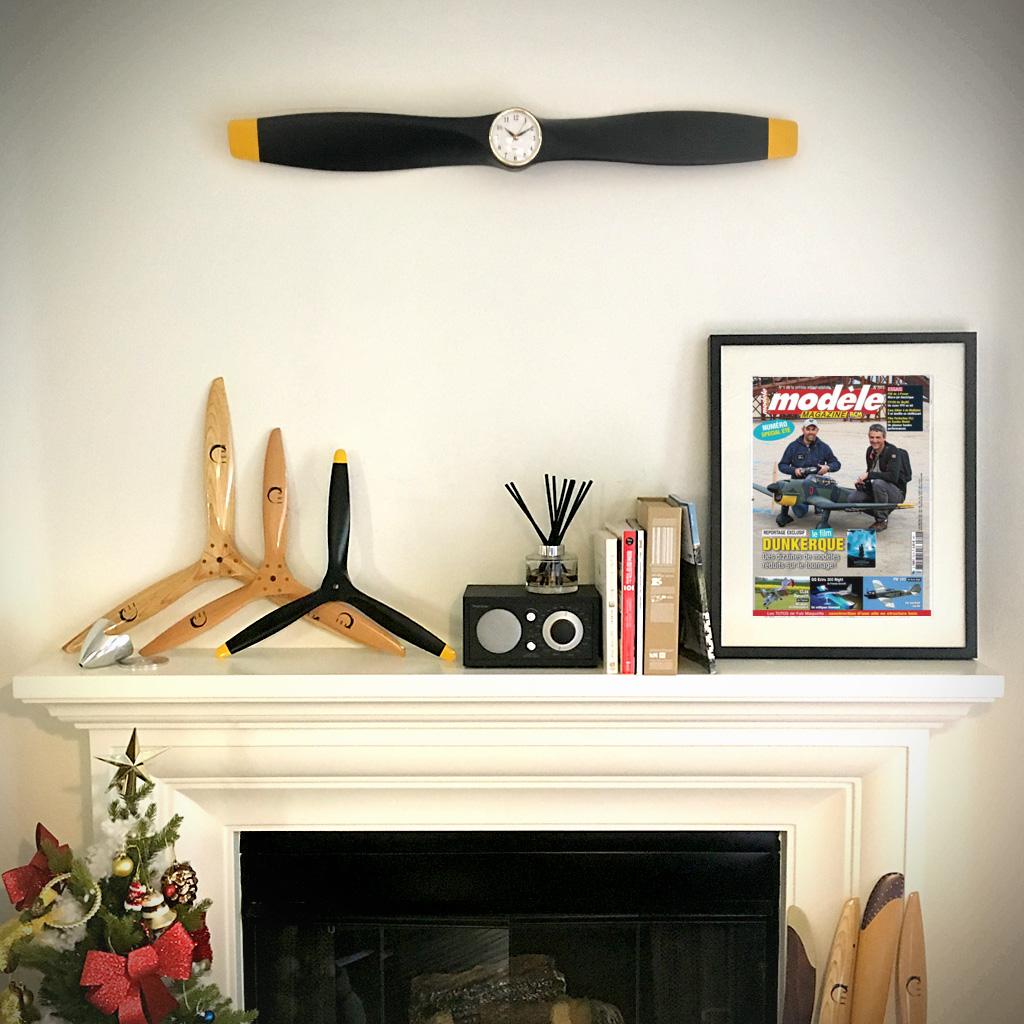 Xoar Propeller Clock Matt Black