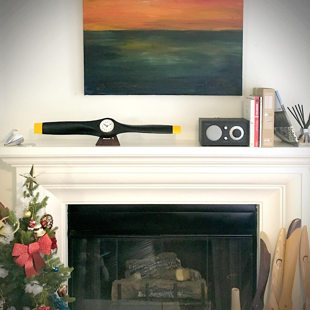 Xoar Propeller Clock Matt Black 26 inch