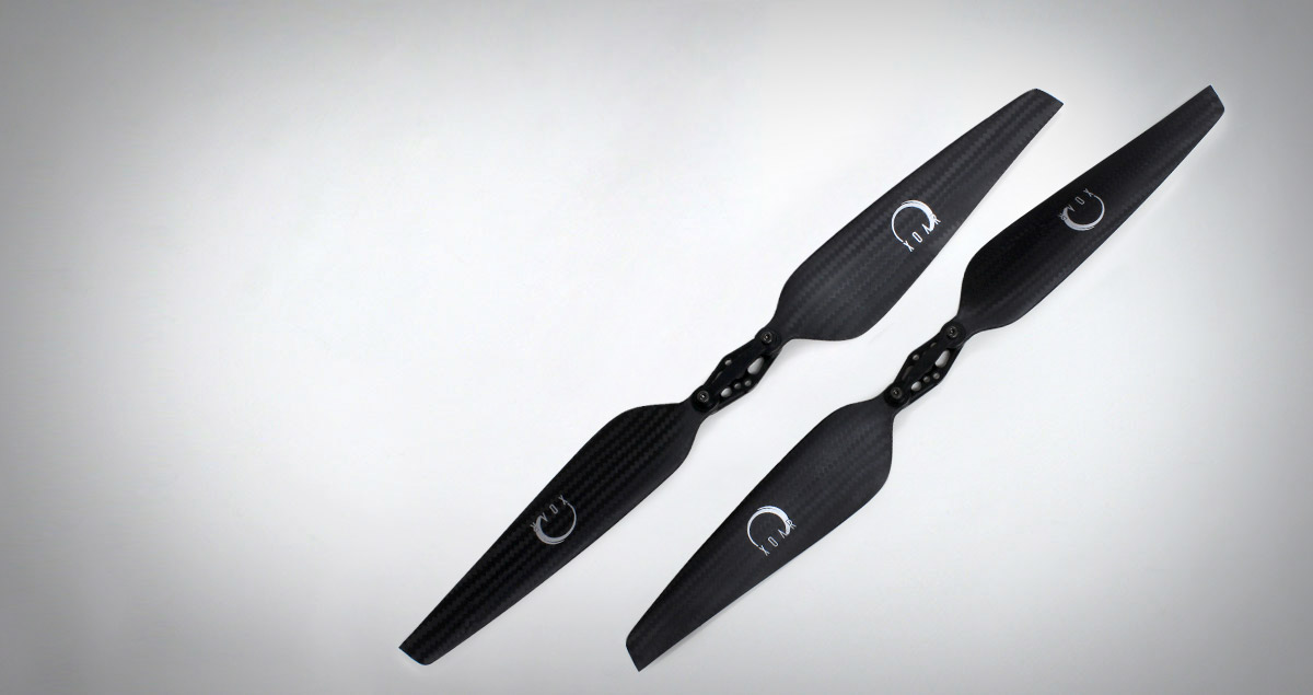 PJP-T-LF Quadcopter & Multicopter Folding Carbon Fiber Propellers - Precision Pair For Low Kv Electric Motors