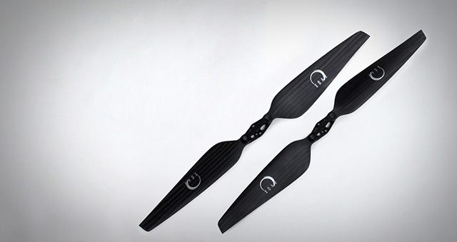PJP-T-LF - Quadcopter & Multicopter Folding Carbon Fiber Propellers - Precision Pair For Low Kv Electric Motors